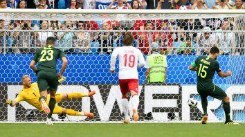 Dinamarca empató con Australia y el grupo C quedó abierto