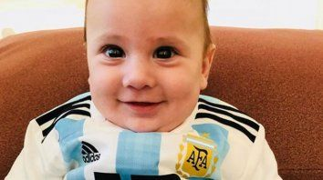 Ciro, el pequeño gran hincha de papá Lio Messi