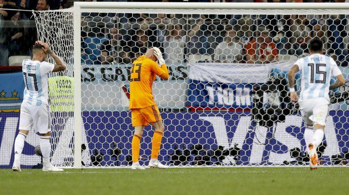 El inexplicable error de Caballero que le valió el gol a Croacia