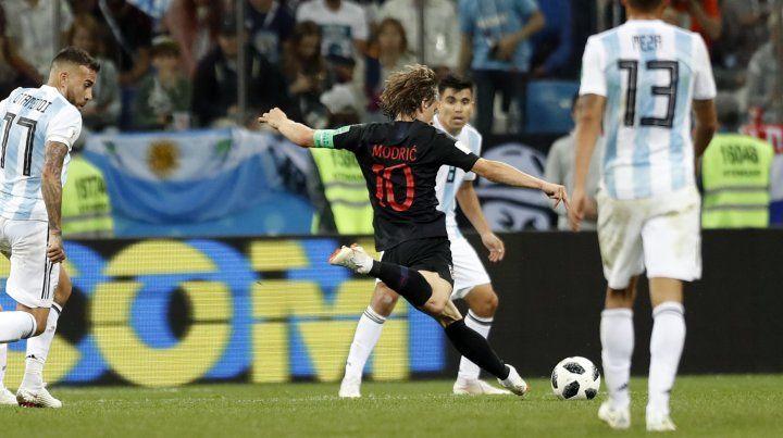 El gol de Modric que sepultó a la selección de Sampaoli