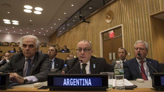 Naciones Unidas. El canciller argentino