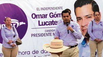 Imparable. El candidato a alcalde Omar Lucatero, muerto el miércoles.