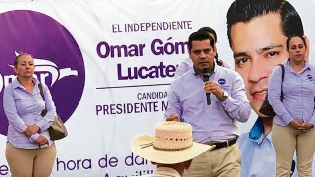 Imparable. El candidato a alcalde Omar Lucatero