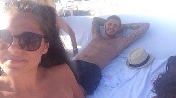 Ivana, la hermana de Mauro, bancó al goleador de Inter.