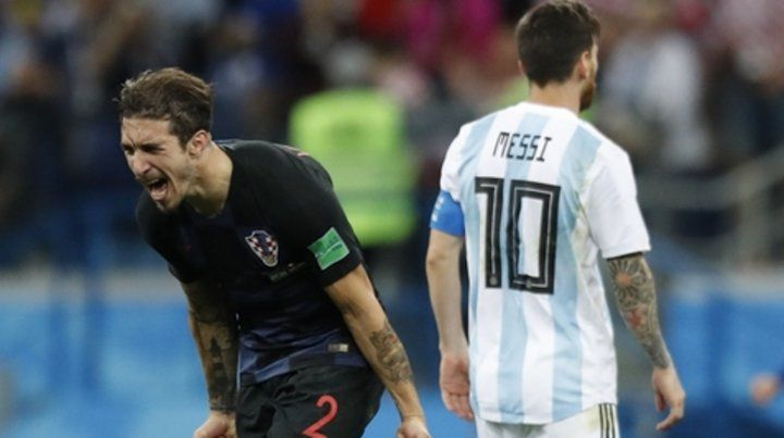Las dos caras. Lo grita Vrsaljko y lo sufre Messi