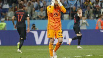 El arquero no puso excusas por el garrafal error en el gol de Croacia.