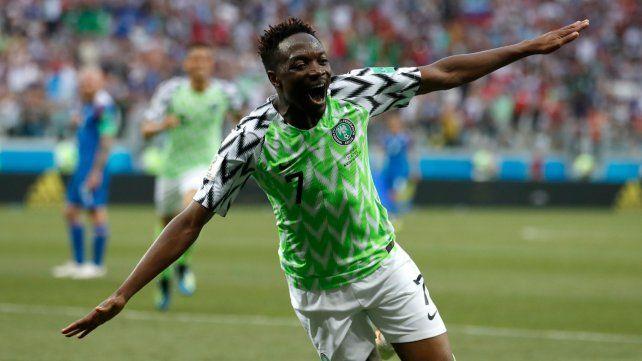 Doble de Musa. El delantero nigeriano anotó dos goles en la segunda etapa y encaminó una victoria que despertó las chances de Argentina en el Mundial de Rusia.