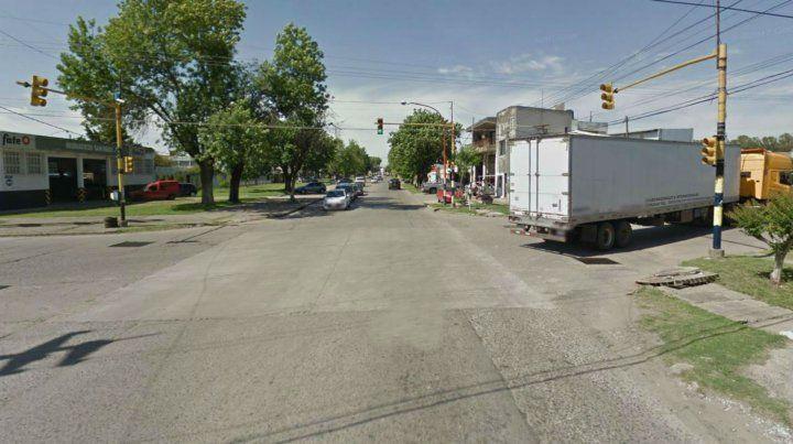 La esquina donde se produjo el fatal accidente.