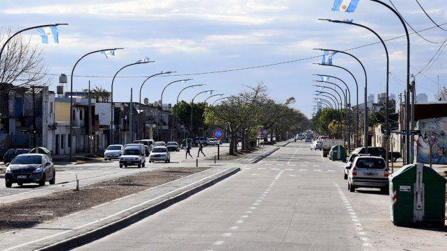 Flamante. La avenida Francia se renovó integralmente a lo largo de 900 metros en la zona sudoeste.