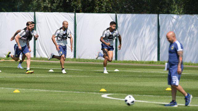 ¿Todo roto? El equipo argentino entrenó ayer en Bronnitsy