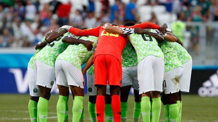 Arenga. Los futbolistas de Nigeria