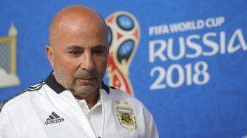 El técnico de la selección argentina, Jorge Sampaoli, habló en la previa del partido con Nigeria.