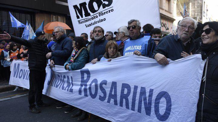 Los gremios locales destacaron el acatamiento total que tuvo el paro en Rosario