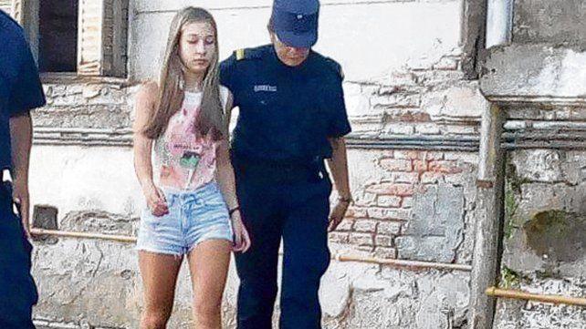 Declaración. Nahir Galarza concurrió a los Tribunales de Gualeguaychú.