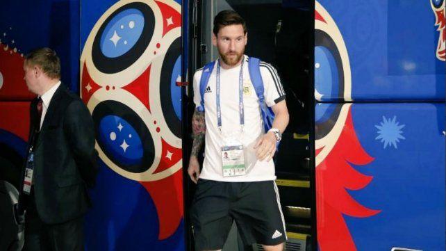 La selección argentina llegó cantando al estadio de San Petersburgo
