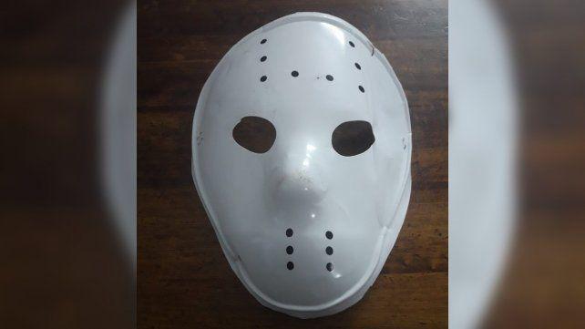 La máscara secuestrada por la Policía