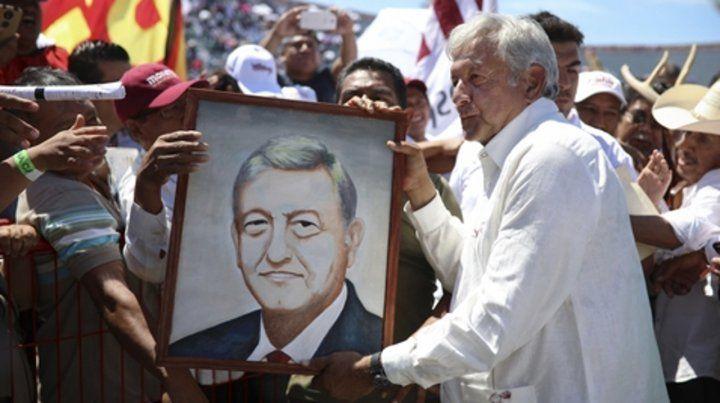 Mitin entre balas. El izquierdista López Obrador es favorito para ganar las presidenciales del próximo domingo.