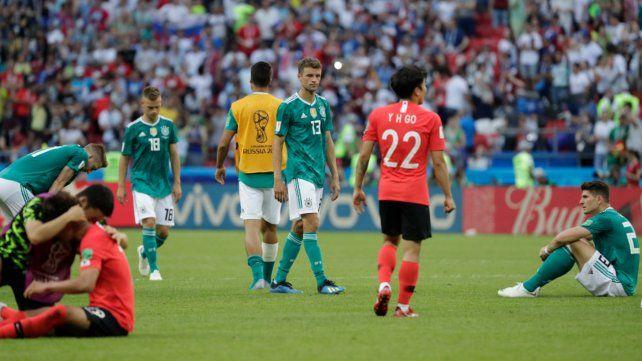Alemania quedó afuera del Mundial en primera rueda