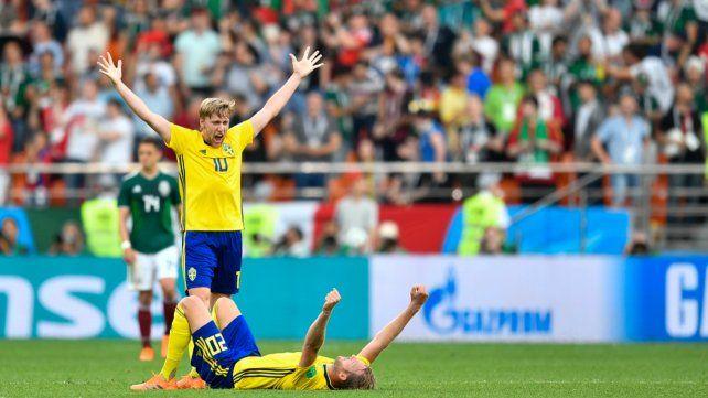 Suecia goleó a México pero los dos pasaron a octavos
