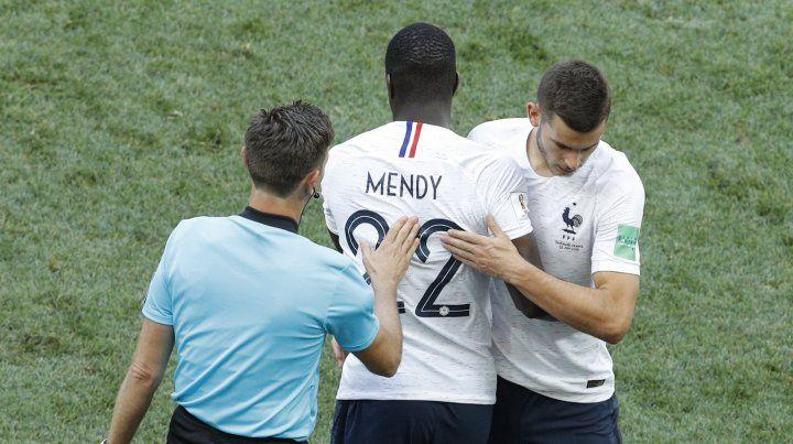 Mendy reemplazó a Lucas ante Dinamarca. El lateral de Atlético de Madrid está en duda.