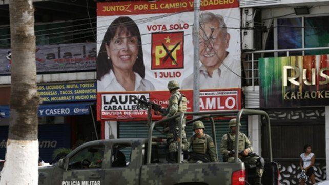 Inseguridad. Militares patrullan las calles de Acapulco