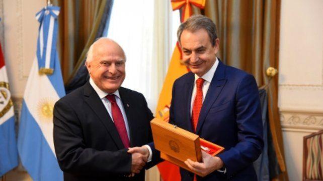 Presente. El ex jefe de Gobierno español