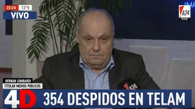 Lombardi justificó los 354 despidos en la agencia Télam
