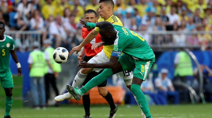 Colombia le ganó a Senegal y clasificó primero en el Grupo H