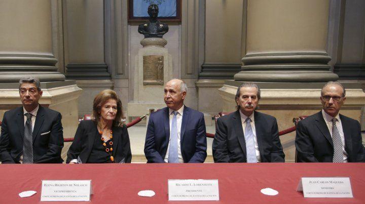 Los integrantes de la Corte Suprema de la Nación le exigieron un aumento del presupuesto al gobierno.