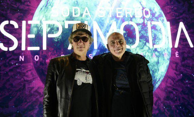 Los integrantes de Soda Stereo presentaron en Rosario el show Sép7imo Día.