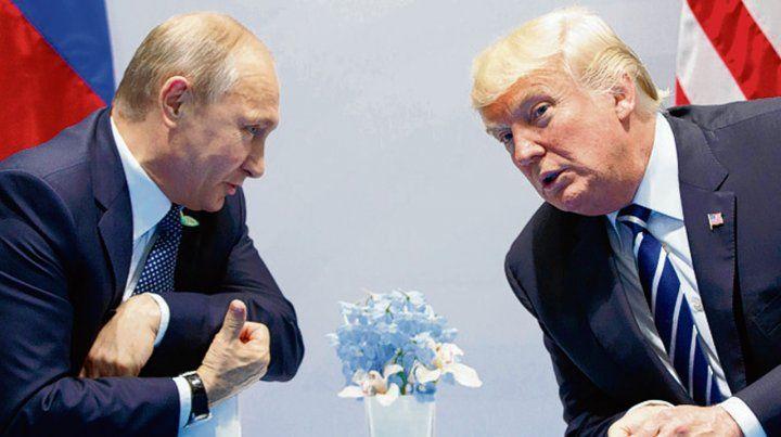 Cara a cara. Trump habló con Putin en la cumbre del G-20 de Hamburgo.