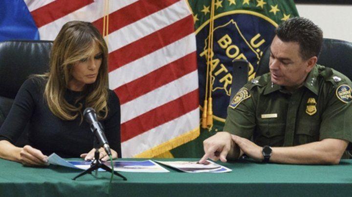 Es la segunda vez que la primera dama visita la zona frontera sur.