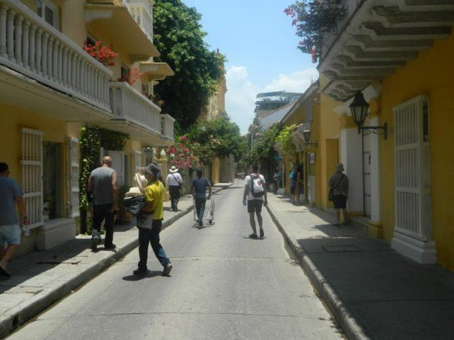Las calles de Cartagena son una postal en sí mismas.