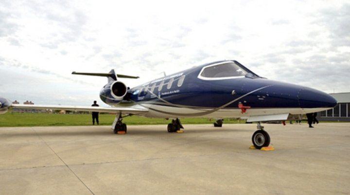 Lear Jet 35. En este avión hizo Báez su último vuelo en libertad.