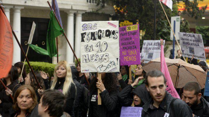 Una de las marchas en contra la violencia machista.