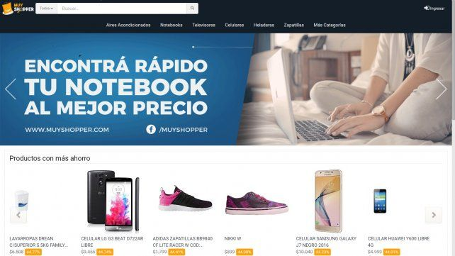Mirar. El sitio compara precios y busca lograr ahorrar en la compra.