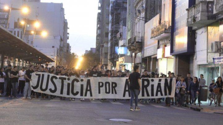 Artistas movilizados. El trágico episodio fue motivo de múltiples marchas exigiendo Justicia por Adrián.