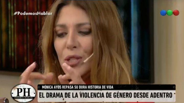 El escalofriante relato de Mónica Ayos de cómo su ex la golpeó