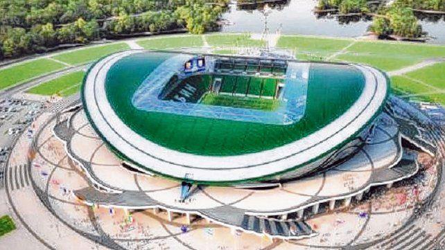Imponente estadio. El Kazán Arena