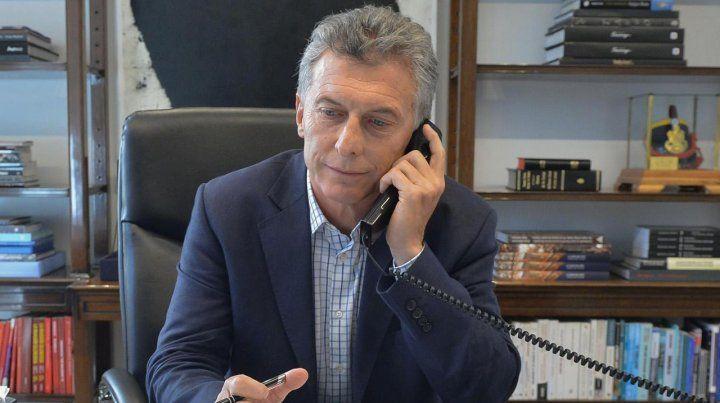 Macri llamó por teléfono al mandatario electo Andrés Manuel López Obrador.