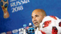 Ultima imagen desde Rusia. El Zurdo, en la conferencia de prensa tras la eliminación a manos de Francia. Manifestó que quiere seguir al frente del seleccionado.