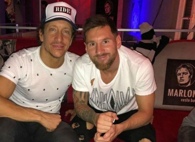 Nico Vázquez y su amigo Lionel Messi.