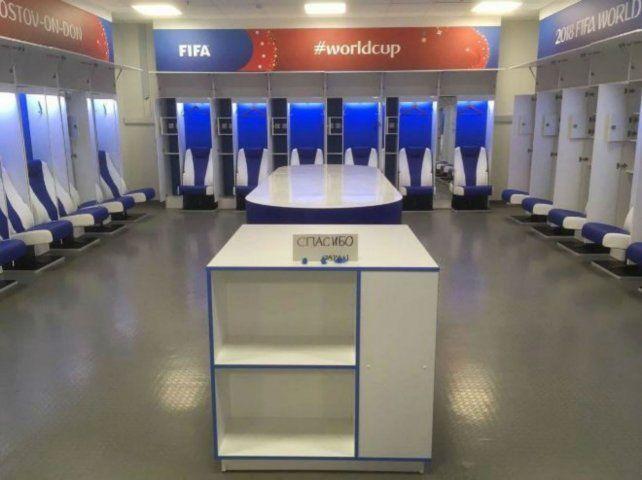 Así quedó el vestuario japonés tras la derrota y eliminación de la Copa del Mundo.