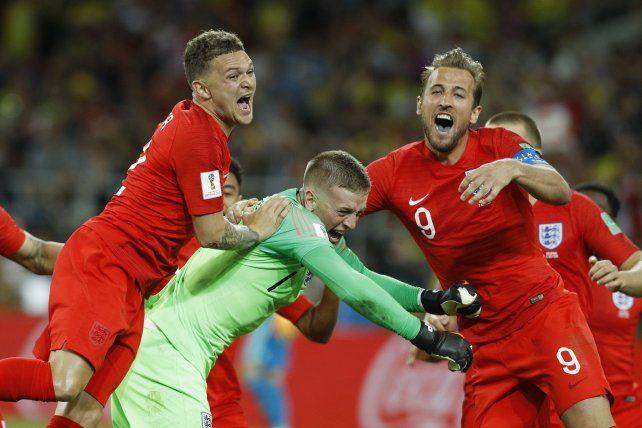 Inglaterra eliminó a Colombia en definición por penales