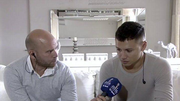 Mauro Zárate rompió el silencio y hasta lloró. (Foto: imagen de TV)