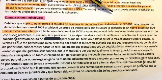 Una joven estudiante pidió un resumen y se encontró con una confesión oculta