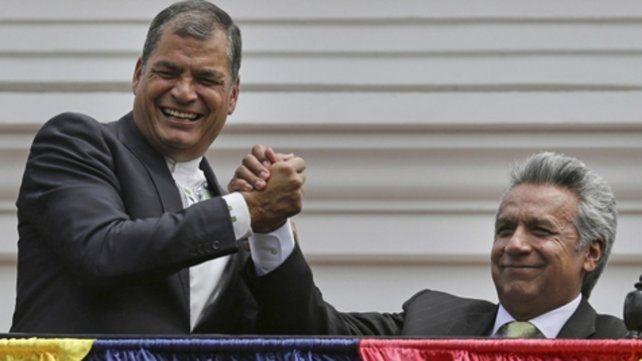 Réplica. El ex mandatario ecuatoriano (izq) junto a su ex aliado Lenín Moreno