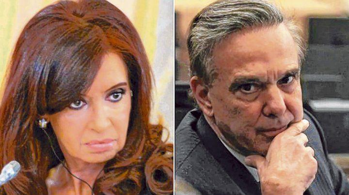 Contraste. Cristina Kirchner y Miguel Angel Pichetto