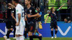 Luka Módric celebra su gol ante la Argentina durante la fase de grupos del Mundial.