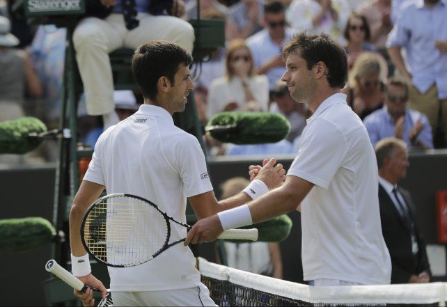 La última foto. Horacio Zeballos se despidió de Wimbledon ante Djokovic. Se retirará a fin de año.